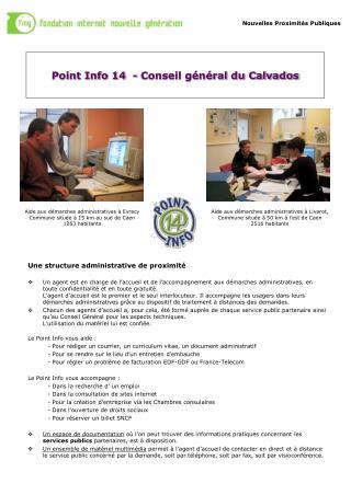 Point Info 14  - Conseil général du Calvados