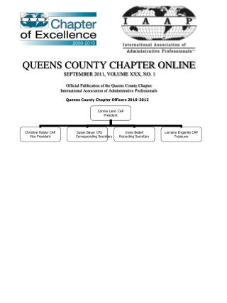 Queens County Chapter Officers 2010-2012