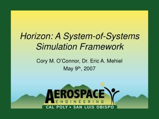 Horizon: A System-of-Systems Simulation Framework