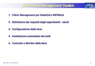 INFN-Farm Management Toolkit