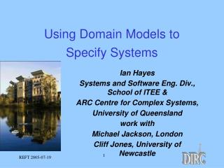 Using Domain Models to Specify Systems