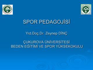 SPOR PEDAGOJİSİ Yrd. Doç.Dr . Zeynep DİNÇ ÇUKUROVA ÜNİVERSİTESİ  BEDEN EĞİTİMİ VE SPOR YÜKSEKOKULU