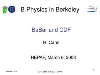 B Physics in Berkeley