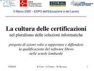 2 Marzo 2005 � EXPO dell'Educazione e del Lavoro