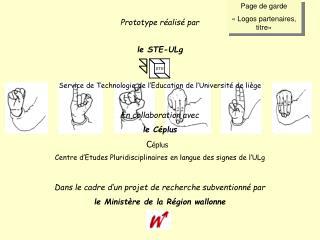 Page de garde «Logos partenaires, titre»
