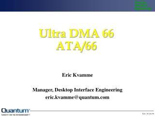 Ultra DMA 66 ATA/66