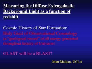 Measuring the Diffuse Extragalactic Background Light as a function of redshift