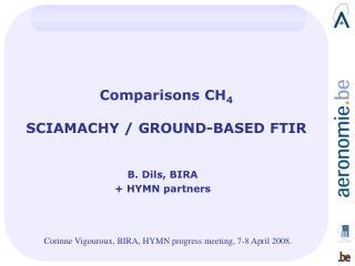 Comparisons CH 4 SCIAMACHY / GROUND-BASED FTIR