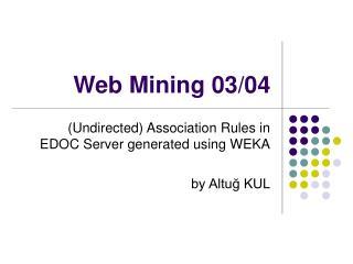 Web Mining 03/04