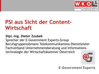 PSI aus Sicht der Content-Wirtschaft