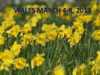 WALES MARCH 4-8, 2013