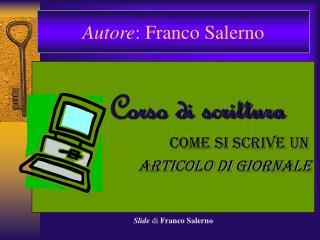Autore : Franco Salerno