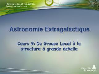 Astronomie Extragalactique