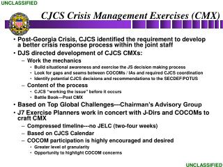 CJCS Crisis Management Exercises (CMX)