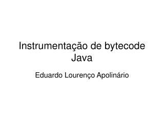 Instrumentação de bytecode Java