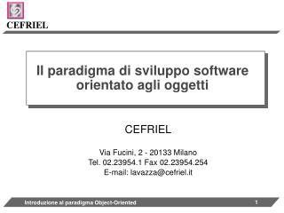 Il paradigma di sviluppo software orientato agli oggetti