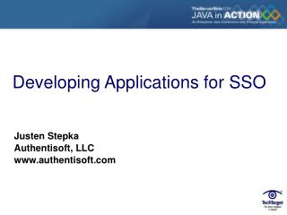 Developing Applications for SSO