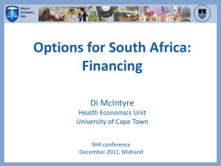 Options for South Africa: Financing