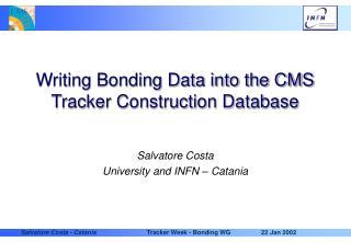 Writing Bonding Data into the CMS Tracker Construction Database