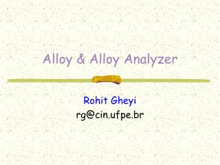 Alloy & Alloy Analyzer