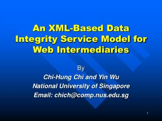 An XML-Based Data Integrity Service Model for Web Intermediaries