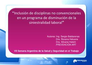 VII Semana Argentina de la Salud y Seguridad en el Trabajo