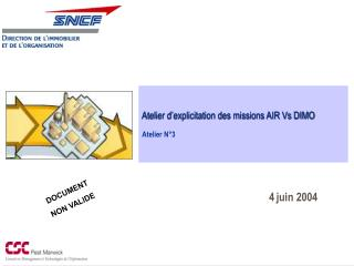 Atelier d'explicitation des missions AIR Vs DIMO Atelier N°3