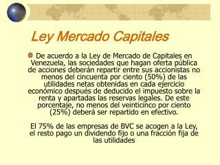 Ley Mercado Capitales