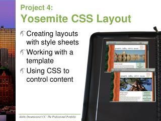 Project 4: Yosemite CSS Layout