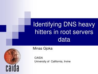 Identifying DNS heavy hitters in root servers data