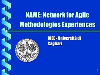 NAME: Network for Agile Methodologies Experiences