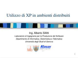 Utilizzo di XP in ambienti distribuiti