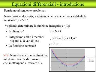 Equazioni differenziali - introduzione
