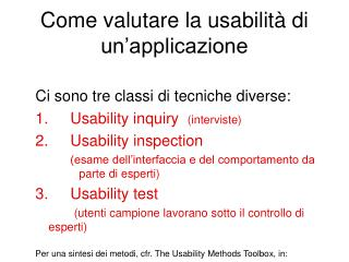 Come valutare la usabilità di un'applicazione