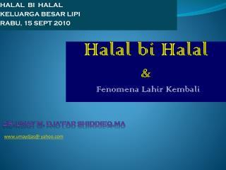 Halal bi Halal  &
