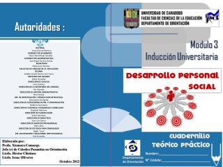 Elaborado  por : Profa. Xiomara Camargo Jefa (e) de Cátedra Pasantías en Orientación