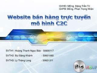 Website  bán hàng trực tuyến mô hình  C2C