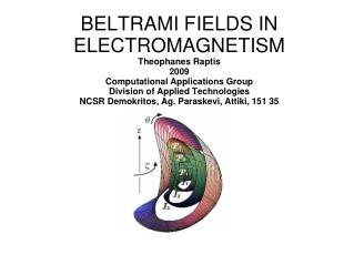 """Εugenio Beltrami, 16 November 1835 - 4 June 1899) """"Considerations in Hydrodynamics""""  (1889) """