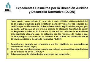 Expedientes Resueltos por la Dirección Jurídica y Desarrollo Normativo (DJDN)