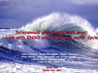 Interannual  global  mean sea level : Link  with  ENSO and the global water cycle