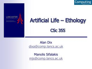 Artificial Life – Ethology