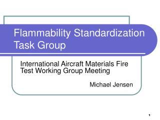 Flammability Standardization Task Group