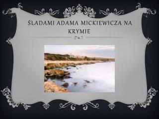 śladami Adama Mickiewicza na  krymie