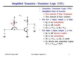 Simplified  Transistor - Transistor  Logic  TTL