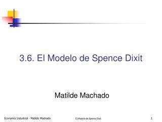 3.6. El Modelo de Spence Dixit
