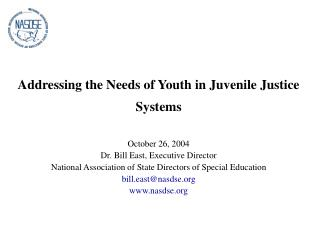 Addressing the Needs of Youth in Juvenile Justice Systems