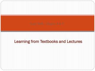 Learning from Textbooks and Lectures
