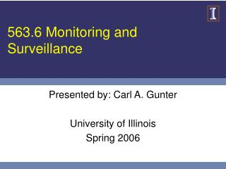 563.6 Monitoring and Surveillance