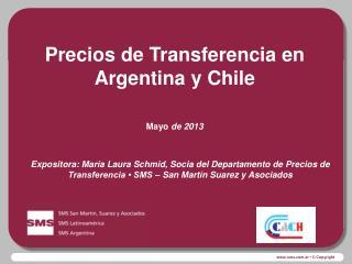 Precios de Transferencia en Argentina y Chile Mayo  de 2013