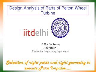 Design Analysis of Parts of Pelton Wheel Turbine
